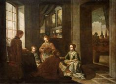 Educación de Santa Teresa.Obra de Juan García de Miranda. Museo del Prado de Madrid