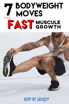 Use these 7 Bodyweight Moves to increase your muscle mass. These full body exercises will work your muscles like you never experienced before. Muscle Mass, Gain Muscle, Build Muscle, Sport Fitness, Fitness Tips, Fitness Challenges, Fitness Logo, Ways To Lose Weight, Weight Loss Tips