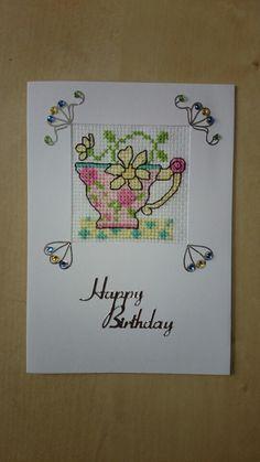 Tea cup birthday card