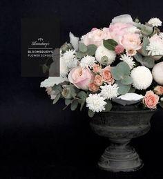 Bloomsbury's table centrepiece. Classical flower arrangement.