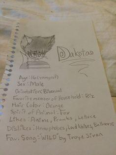 One of my three Neko (Kinda Dakota is a Fox) OCs. He also lives with Riz and Setaza.