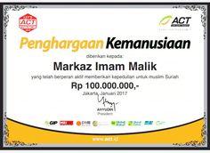 Kerjasama Markaz Imam Malik Dengan  ACT