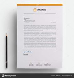 download modern company letterhead template stock illustration