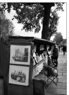 Carte Bouquinistes sur les quais de la Seine pour envoyer par La Poste, sur Merci-Facteur !
