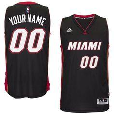 Miami Heat Black Men s Customize New Rev 30 Jersey 6c63004b5