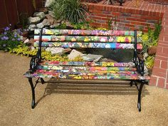 ideas on garden benches | ... painting ideas and creative decorating design for garden benches