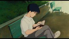 "Seiji reading Shizuku's book - ""Whisper of the Heart"" (1995)"