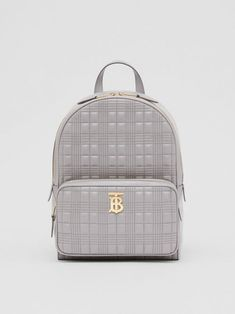 BURBERRY Quilted Lambskin Backpack. #burberry #bags #leather #lining #polyester #backpacks #cotton