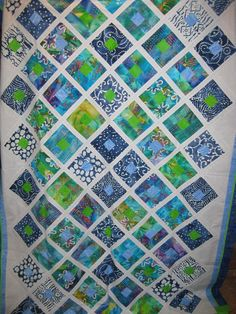 Jelly Roll Quilt. Mom's challenge quilt from our trip to the AQS Paducah quilt show.
