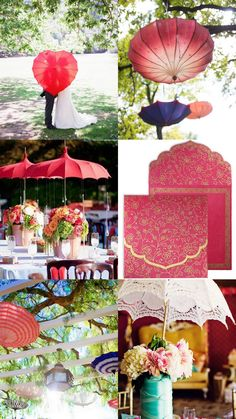 Add a nice romantic touch to your monsoon wedding with beautiful umbrellas and parasols!