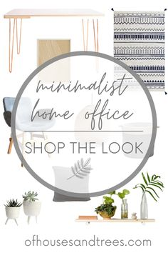 Creating a space that helps you feel peaceful and productive is the key to work-at-home success. And these home office decor items will do just that! #homeofficedecor #homeofficedesign #homeofficeinspiration #minimalistdecor #minimalistoffice #minimalistdesign #minimalisthomeoffice #ofhousesandtrees