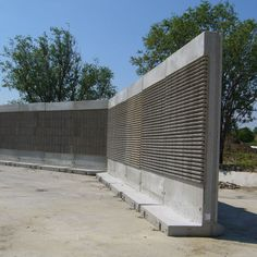 Glassfiber reinforced concrete - All architecture and design manufacturers Concrete Fence, Poured Concrete, Boundary Walls, Reinforced Concrete, Outdoor Living, Outdoor Decor, Fence Design, Feet Care, Prefab