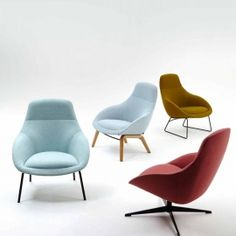 naughtone Always Lounge Chair. Perfect for lounge interiors and break out spaces Lounge Chair Design, Lounge Chairs, Home Office Setup, Soft Seating, Commercial Furniture, Furniture Design, Furniture Legs, Metal Furniture, Office Furniture