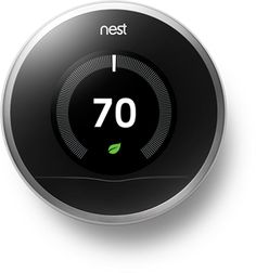 Nest Thermostat: Learns your schedule to reduce heating and cooling costs.  Pays for itself! $250