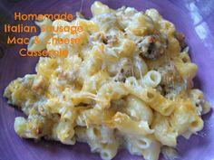 Homemade Italian Sausage Mac & Cheese Casserole --- Best Mac & Cheese EVER!!