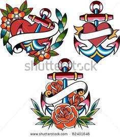 Anchor navy tattoo, cute.