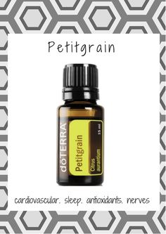 cardivascular, sleep, antioxidants, nerves. Petitgrain essential oil is from