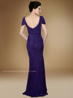 Amazing mother of the bride dress by Rina Di Montella, back, style 1741  Please REPIN if you LIKE it  ENGLISH NET GOWN W/SHAWL Colors: AMETHYST, BERRY, CHOCOLATE, IVORY, MAGENTA, NAVY, PURPLE, ROYAL Sizes: 4-28 http://RinaDiMontella.com/view.php?cat=mother-of-the-bride=1741