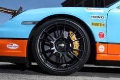 Ultraleggera HLT on Porsche 911 Turbo Gulf Racing vinyl wrap Porsche 997 Turbo, Porsche 911 Models, 911 Turbo, Racing Wheel, Love Car, Custom Cars, Race Cars, Dream Cars, Autos
