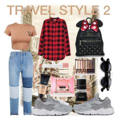 """""""Travel style 2  Like this if you want more"""" by lauralydix on Polyvore featuring Steve J & Yoni P, adidas, Loungefly, Maybelline, Forever 21, NYX, H&M and NIKE"""