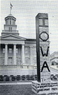 1984 corn monument, from 1984-85 Iowa Engineer p.1