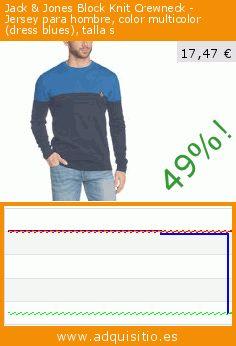 Jack & Jones Block Knit Crewneck - Jersey para hombre, color multicolor (dress blues), talla s (Ropa). Baja 49%! Precio actual 17,47 €, el precio anterior fue de 34,41 €. https://www.adquisitio.es/jack-jones/block-knit-crewneck-11