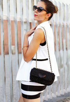 Tendenze primavera estate 2013: righe bianche e nereIrenes Closet – Fashion blogger outfit e streetstyle  www.ireneccloset.com