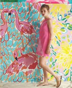 Flamingo girl.
