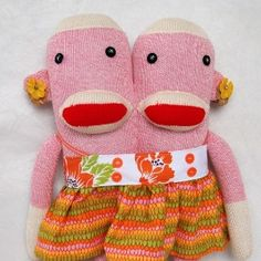 Two Pink Sock Monkeys are better than One