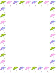 Free Weather Borders: Clip Art, Page Borders, and Vector Graphics Page Borders, Borders And Frames, Borders For Paper, Fall Crafts, Diy And Crafts, Printable Border, Free Printable Stationery, Card Sentiments, School Frame