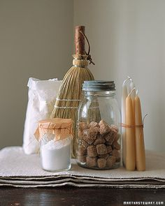 Housewarming Gift  Jewish Tradition: Salt, Candles  It's A Wonderful Life: Bread, that this house may never know hunger; Salt, that life may always have flavor; Wine, that joy and prosperity may reign forever