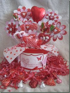 candy bouquet for Valentine's Day