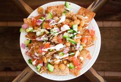 "Greek ""Nachos"" with Baked Chickpeas"