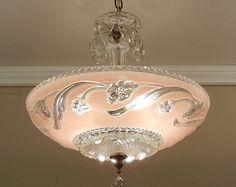 vintage chandelier markel 1930u0027s art deco by