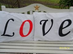 Perfect Way to Decorate Your Bedroom  LOVE by TreasuresShop, $32.00