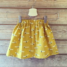 Childs elastic skirt. Made using dashwood studio fabric, elastic and gutermann thread. All available at koala Kreations