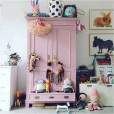 would love to refresh a craigslist credenza or armoire for gigi's room.