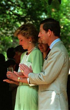 May 9, 1990: Prince Charles & Princess Diana on an official visit to Budapest, Hungary.