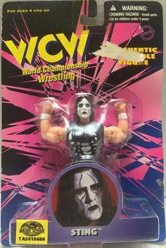 (TAS010686) - 1998 Toymakers WCW Wrestling Figure - Sting
