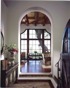 Spanish Colonial Elements: 6. Arches. Arches are found throughout the house, from archways, to doors and windows, and alcoves and niches.