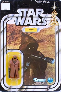 "KENNER ""Star Wars"" Jawa 12-Back Card (1978) with rare vinyl cape."