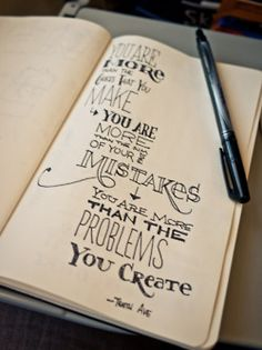 """You've been remade!  Lyrics from """"You Are More,"""" by Tenth Avenue North.  You are more than the choices that you've made,  You are more than the sum of your past mistakes,  You are more than the problems you create,  You've been remade."""