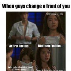 "😂 ""Dang it. Heirs Korean Drama, Korean Drama Funny, Korean Drama Quotes, Korean Dramas, Asian Humor, Funny Asian, Movie Memes, Funny Memes, Drama Fever"