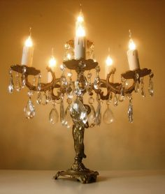 vintage french table chandelier