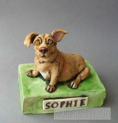 """OMG.....LOVE this sculpture....totally captured the personality of Sophie! thank you SOOOOO much. """