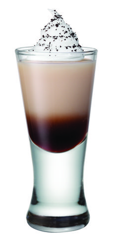 Smirnoff Whipped Java-Whipped Cream flavored Vodka, Bailey's Coffee flavored liqueur, Kahlua and Whipped Cream