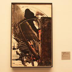 """Vorgänger der modernen Schwarzmalerei:  K. R. H. Sonderborg (1962) """"Temperabild vom 5.11.1962 (0 h 12 bis 1 h 41)"""" (Tempera auf Leinwand)  http://fraeulein-schwarz.blogspot.com/2013/02/vom-herz-zur-farbe.html"""