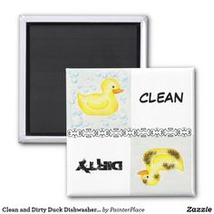 Clean and Dirty Duck Dishwasher Magnet