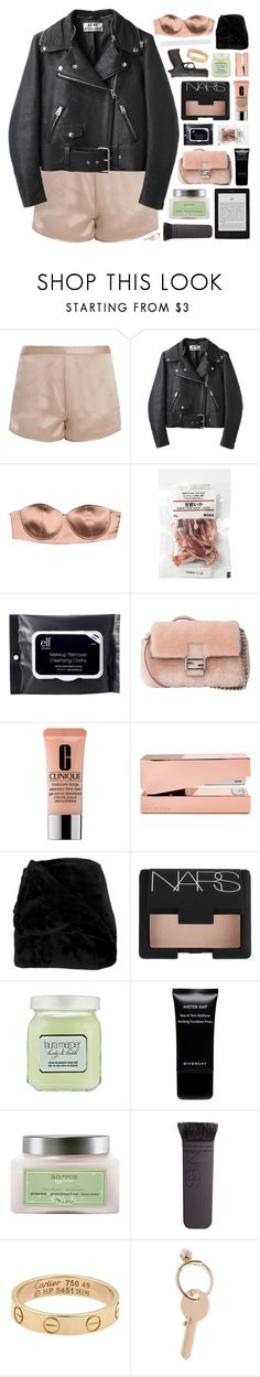 """""""DON'T YOU COME BACK."""" by annamari-a ❤ liked on Polyvore featuring T By Alexander Wang, Acne Studios, Elisabetta Franchi, e.l.f., Fendi, Clinique, Tom Dixon, Woven Workz, NARS Cosmetics and Laura Mercier"""