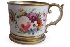Monogrammed Porcelain Mug,  C.1850